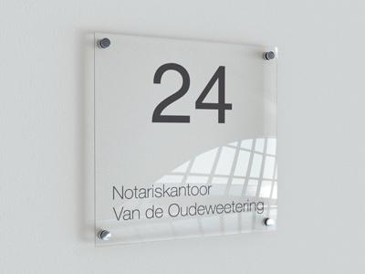 Notariskantoor VDO acrylaat bordje TeylingenReclame