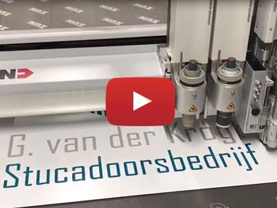 G van der Krogt Stucadoors bord